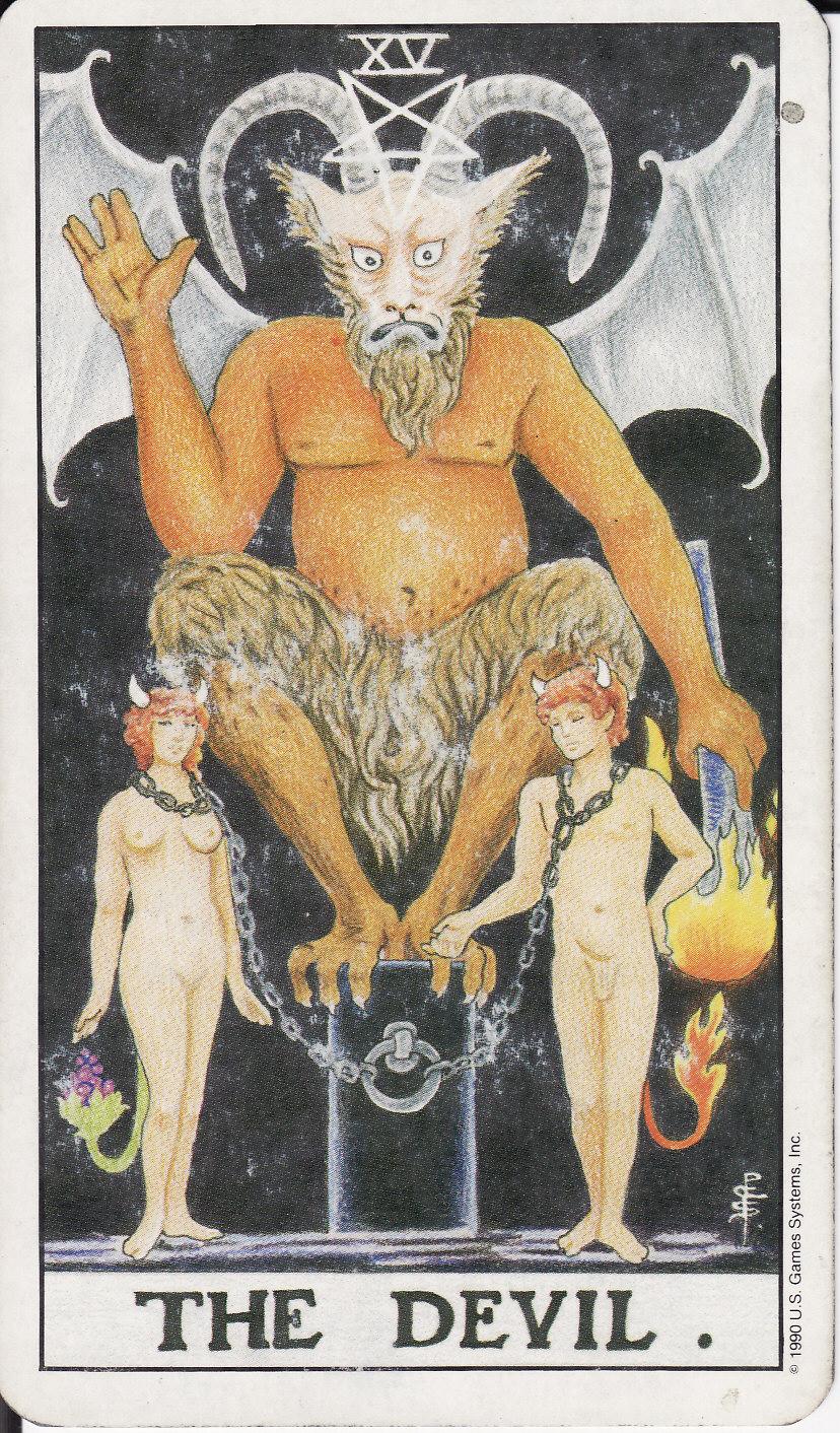 Обозначение карты таро дьяволом