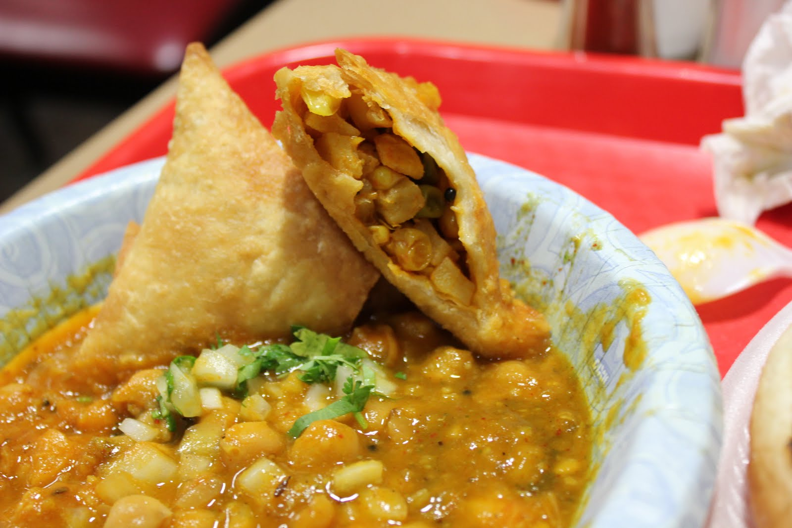 Spiced Corn And Chickpea Samosas Recipe — Dishmaps