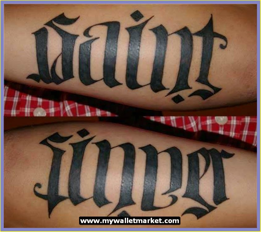 Man Ambigram Tatoos 3: Awesome Tattoos Designs Ideas For Men And Women: Ambigram