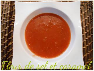 Sauce aigre-douce pour samoussas
