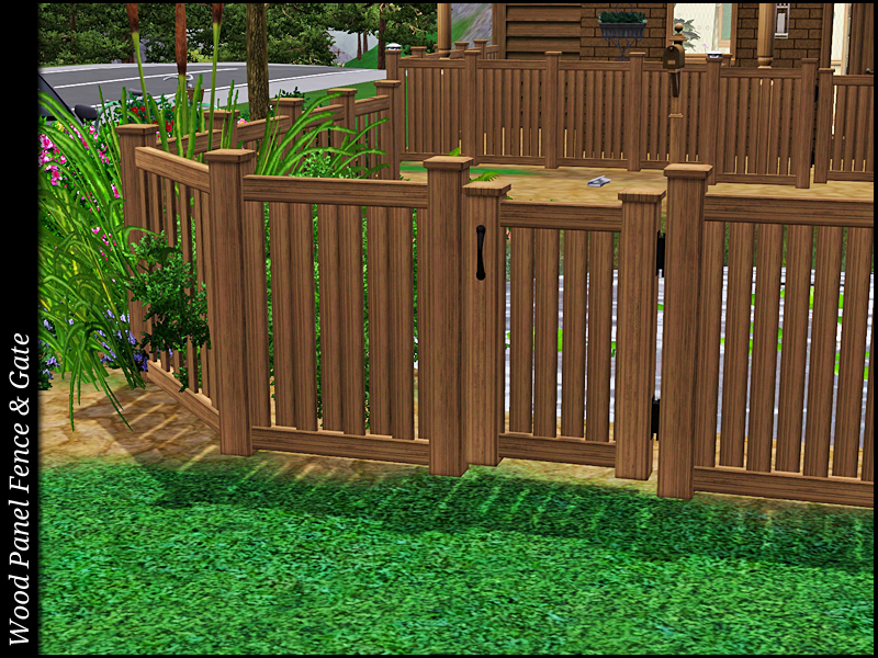 My Sims 3 Blog: Wood Panel Fence & Gate Set by Sailfindragon