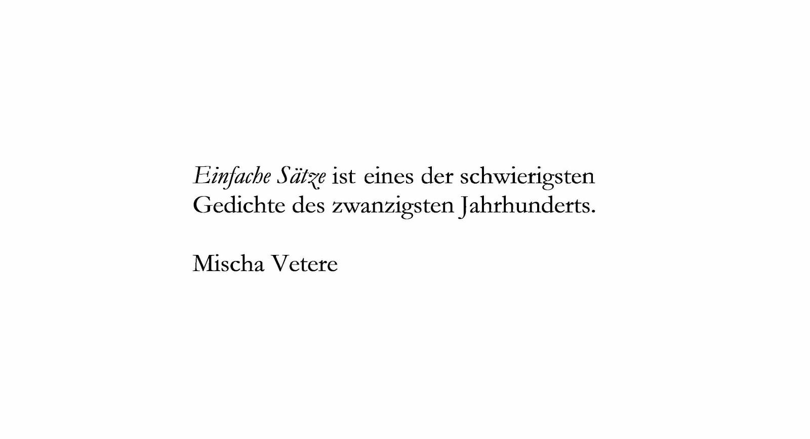 Einfache Sätze Erika Burkart seen by mischa vetere GEHEIMBUND DER STILLE POESIE