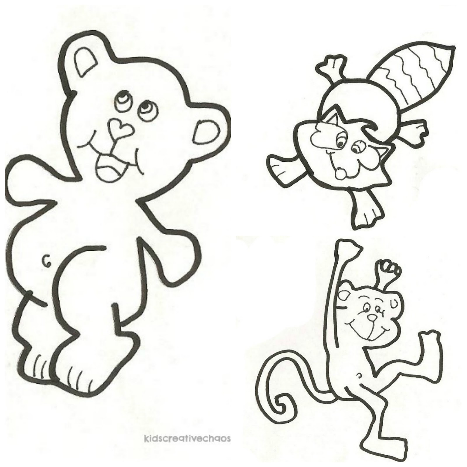 trace cute animals to learn to draw or use as free printable
