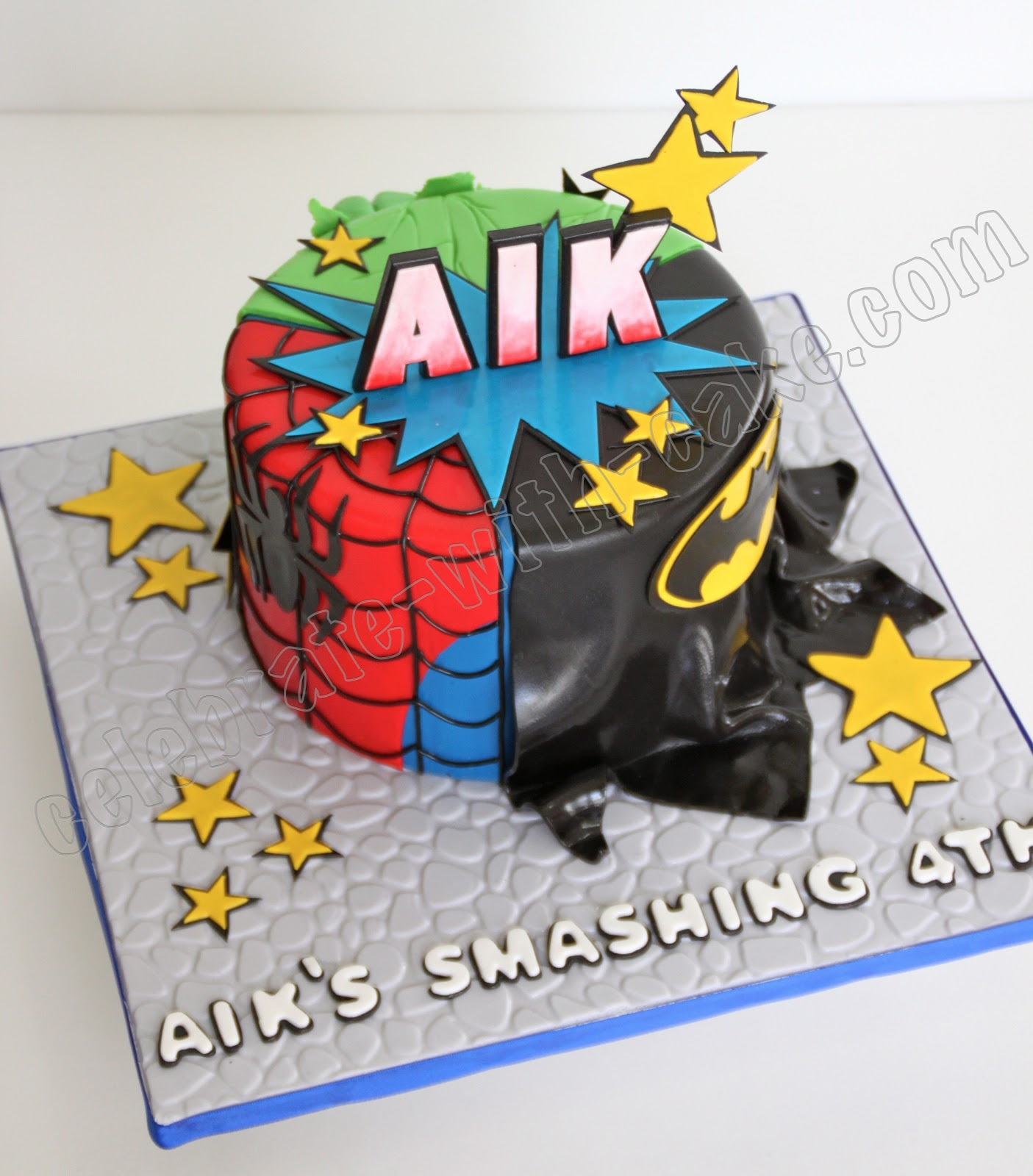 Superhero Mash Up Cake