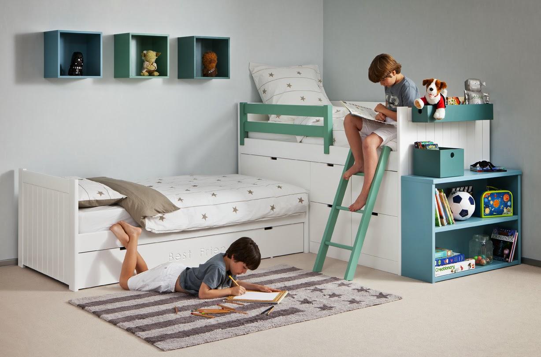 Dormitorios juveniles e infantiles roomplanner de asoral - Camas dobles infantiles para espacios reducidos ...