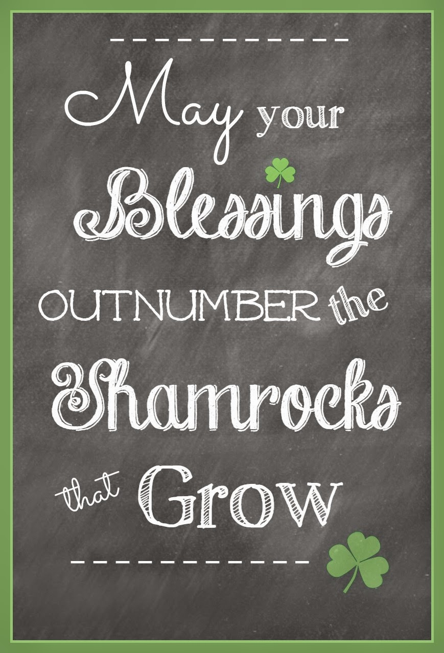 printable, shamrocks, Irish Blessing, Irish, green
