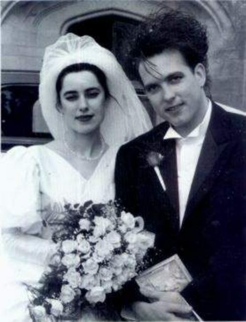 Robert Smith with his wife Mary Poole; Their wedding Picture