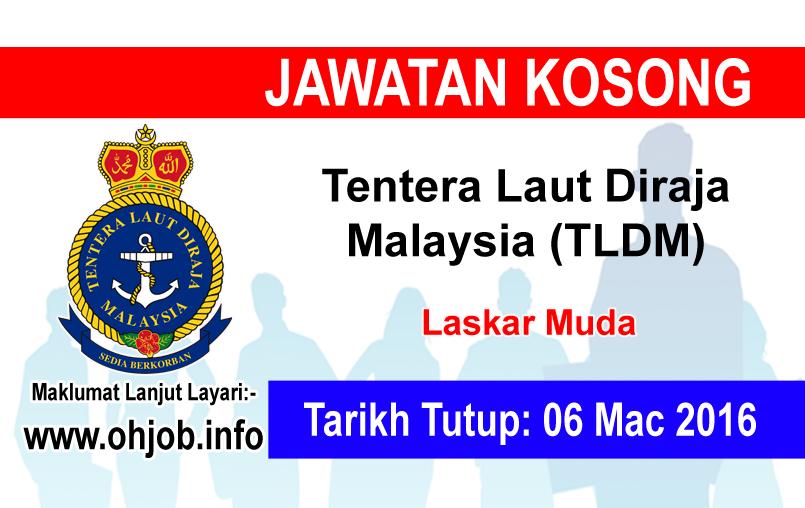 Jawatan Kerja Kosong Tentera Laut Diraja Malaysia (TLDM) logo www.ohjob.info mac 2016