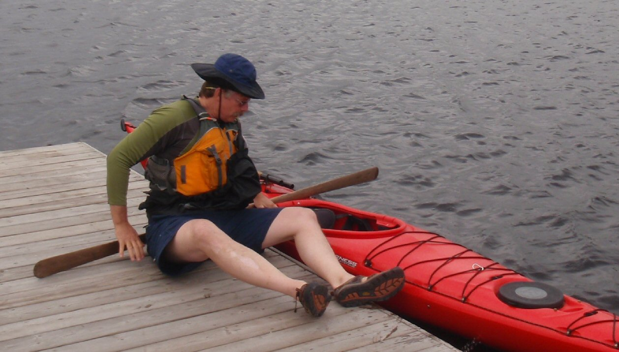 how to get into a kayak from a high dock
