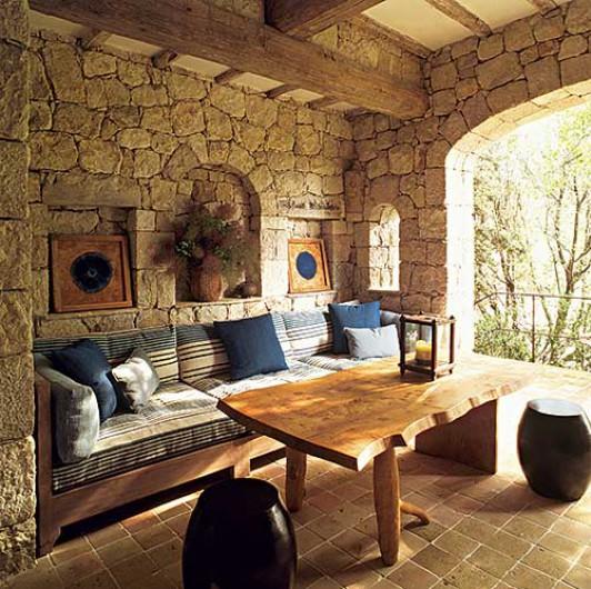 Estilo rustico casa rustica de piedra - Piedras para fachadas de casas rusticas ...