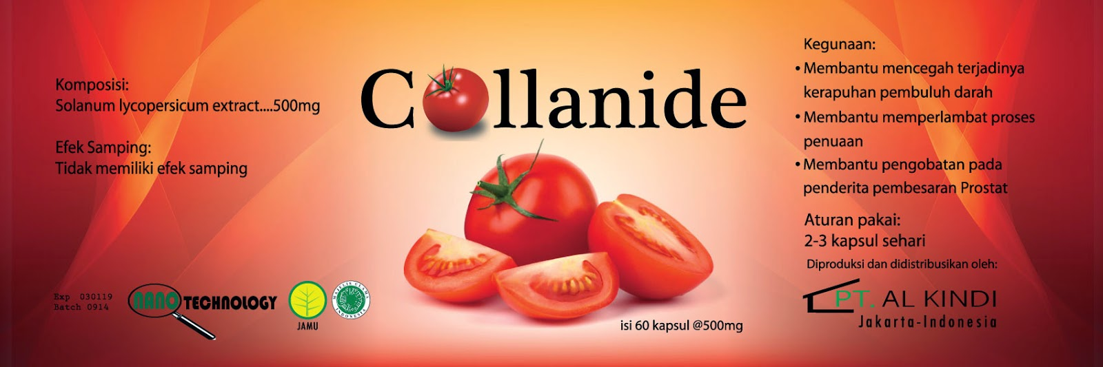 Collanide Solusi Canggih Gangguan Prostat Mengatasi Fruit 18 Jr Isi 60 Kapsul Extracts Minggu 10 Mei 2015