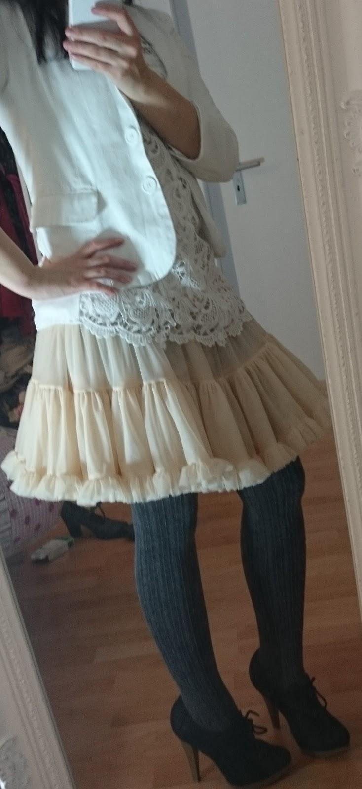 Petticoat White Lace