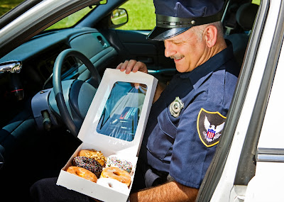 Police cop and donuts