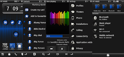 Carbon Blue theme for symbian
