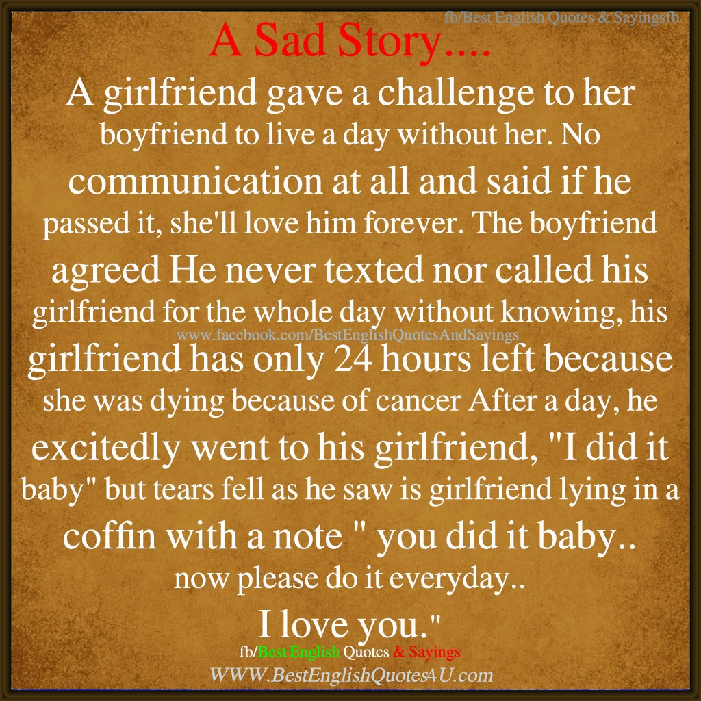 Best Love Quotes For Girlfriend In English : ... And Girlfriend A sad story .... bestenglishquotes&...