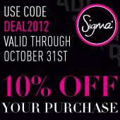 sconto 10% sugli acquisti di ottobre con il codice DEAL2012