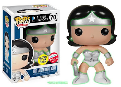 San Diego Comic-Con 2015 Exclusive Glow in the Dark White Lantern Wonder Woman DC Comics Pop! Heroes Vinyl Figure by Funko