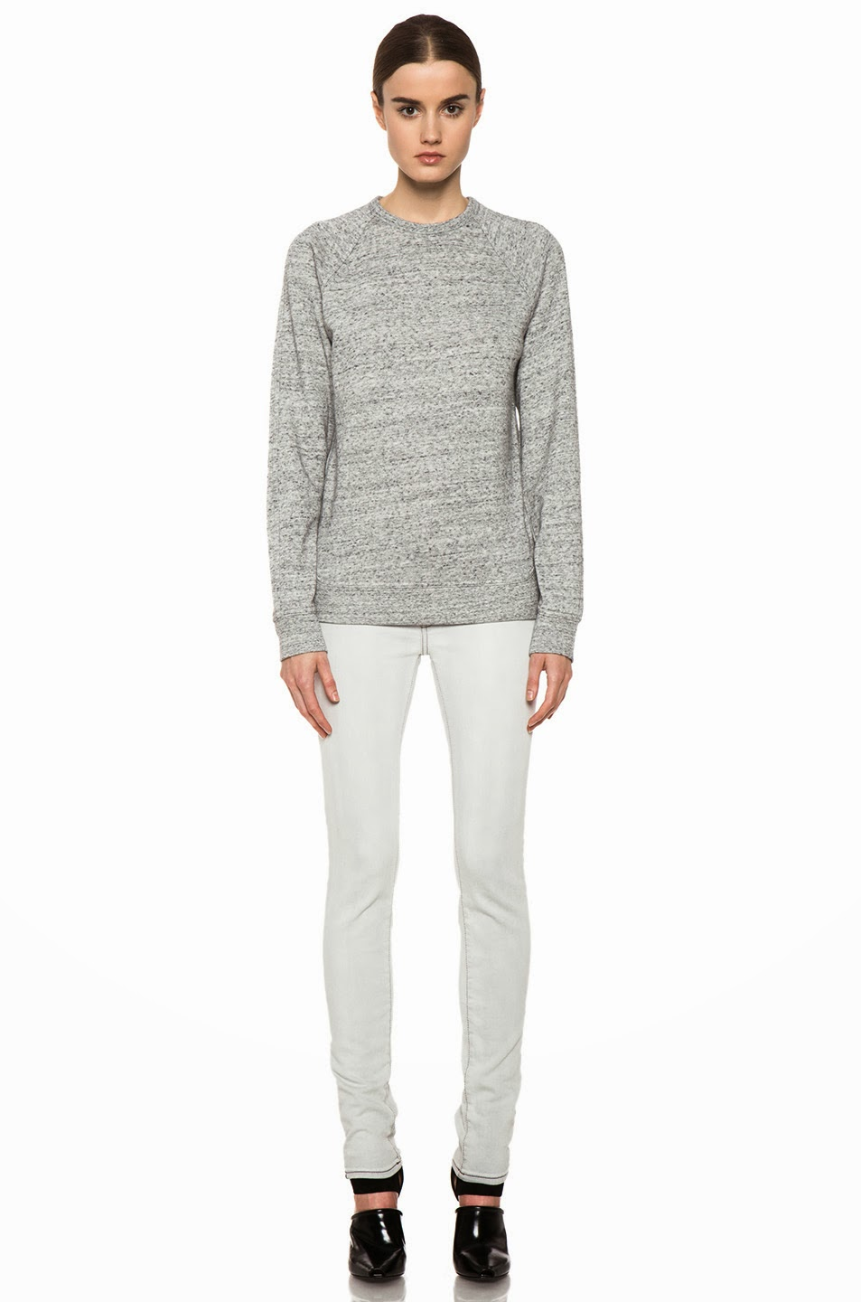 Alexander Wang Heathered Grey Sweatshirt