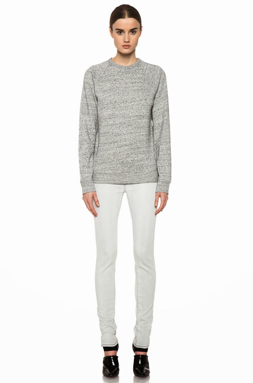 Alexander Wang Heathered Grey Sweatshirt