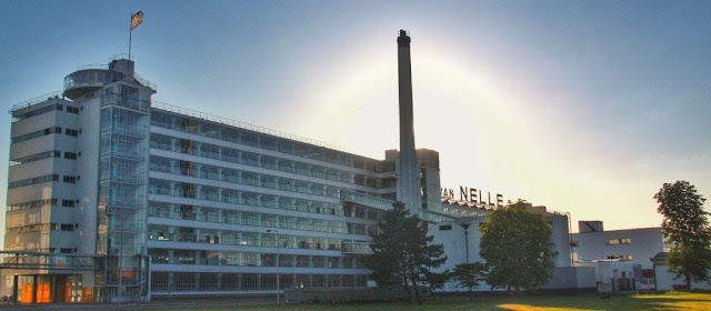 Vista de la Fabrica Van Nelle fabriek en Rotterdam
