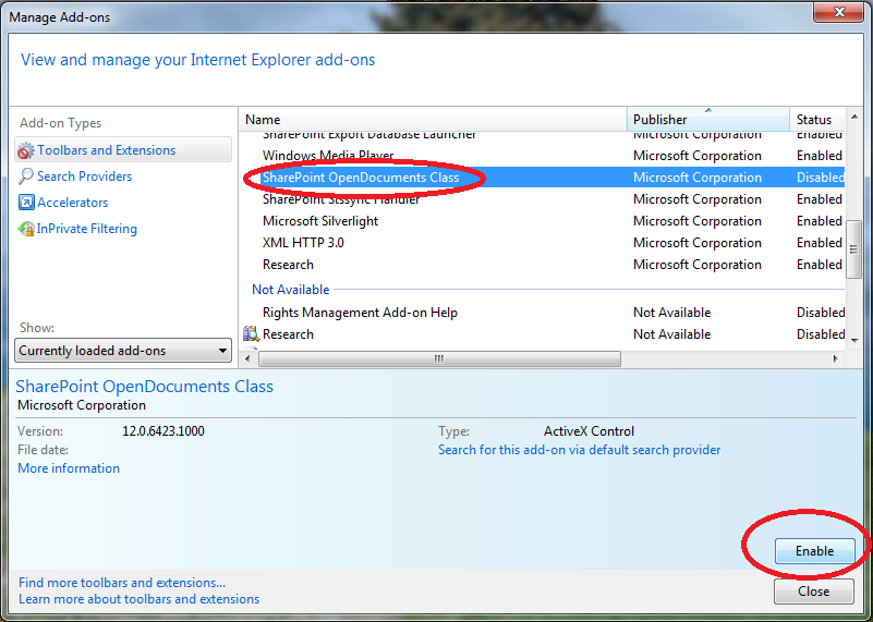 how to enable add ons in word