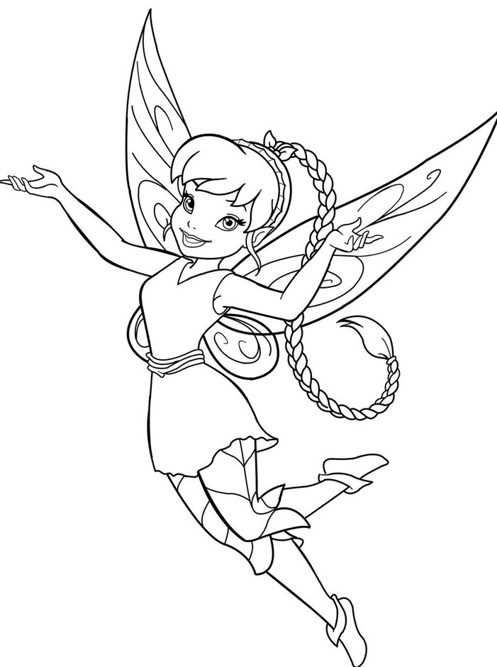 Free fairy vidia coloring pages