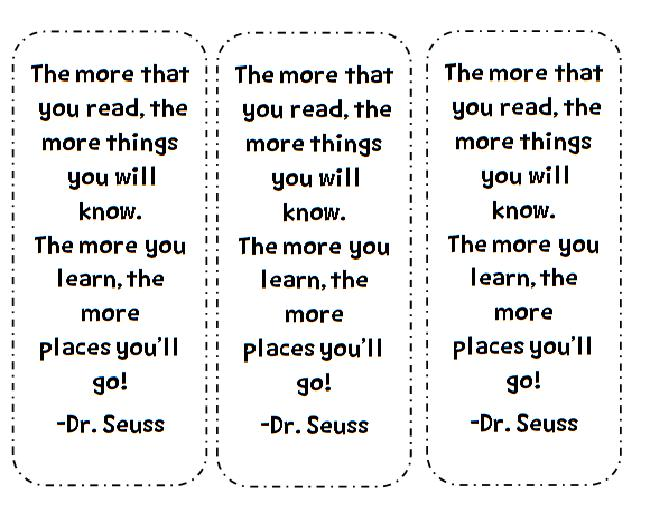 Bookmark Templates With Quotes