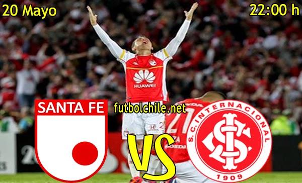 Santa Fe vs  Internacional - Copa Libertadores - 22:00 h - 20/05/2015