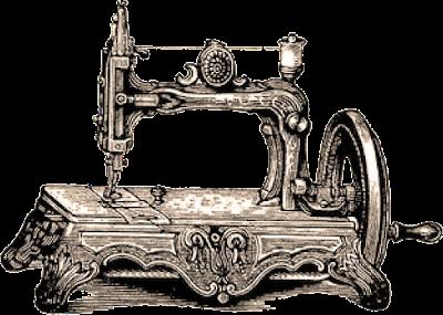 máquina de coser antigua ilustración vintage