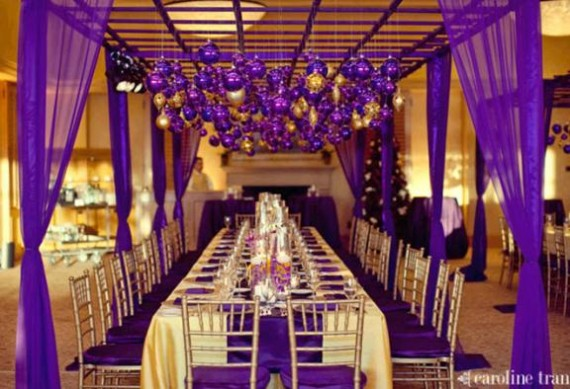 Purple and Gold Wedding Theme
