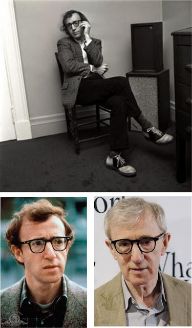 Woody Allen com sapato de duas cores