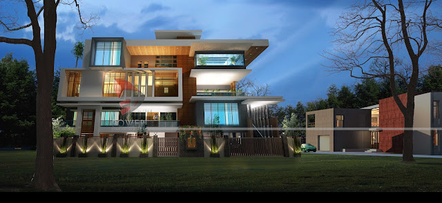 ultra modern architecture,architectural 3d visualization