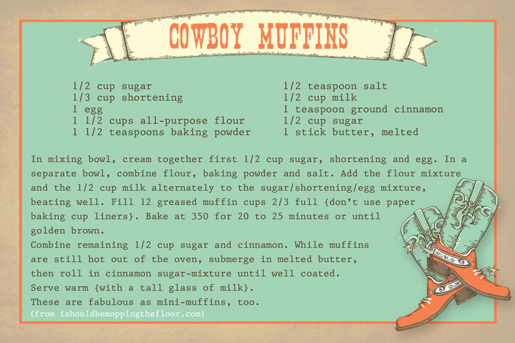 The best thing you'll ever wrap your lips around: Cowboy Muffins {for cowgirls and cowpokes, too}.