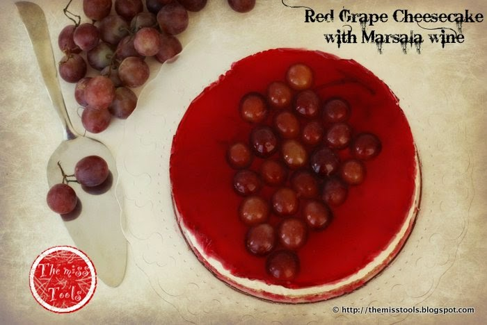 Red Grape Cheesecake with Marsala wine