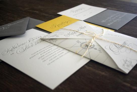 Sideshow press calligraphy map invitations