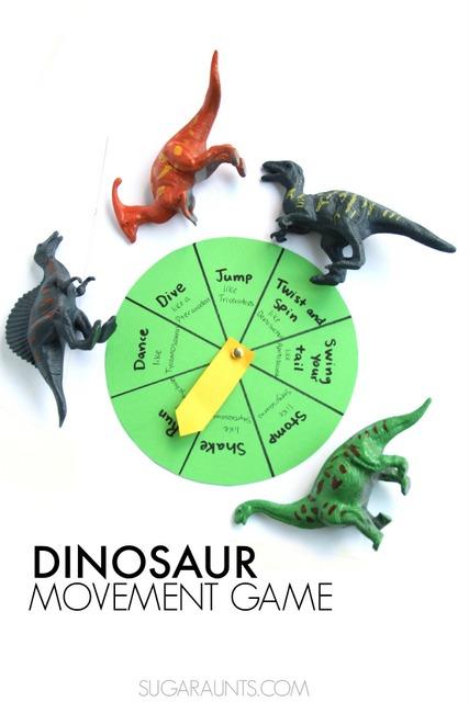 Dinosaurumpus gross motor movement game for kids who love dinosaurs!