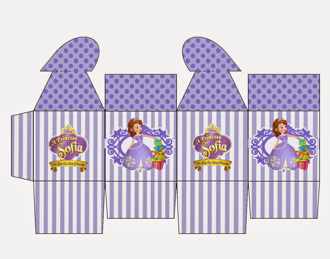Sofia the First Free Printable Box with Heart Closure.
