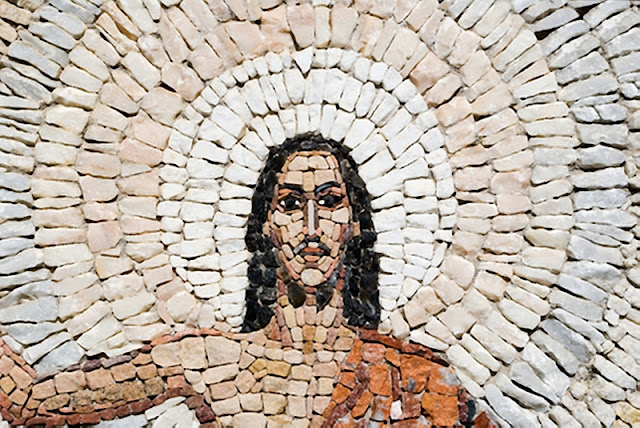The resurrection of Jesus in many colored stones. (photograph by Giedrius Blagnys)