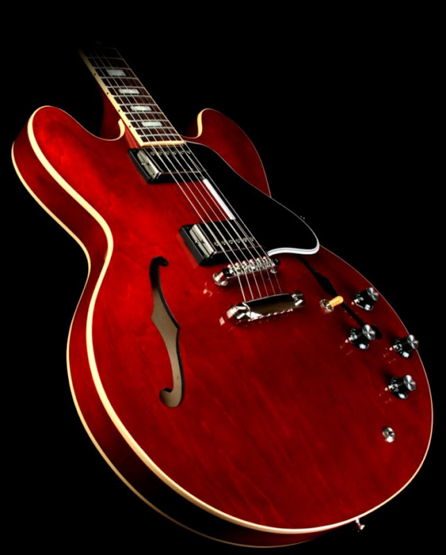 Guitar Musics Gibson 335 Hd Wallpaper