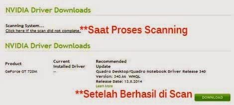 setelah scanning dan download