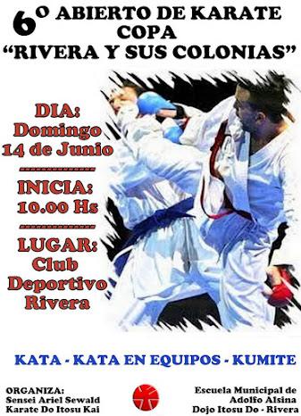 """6º Abierto de Karate """"Copa Rivera y Sus Colonias"""" 14/06/2015"""