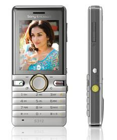 Sony Ericsson S312 Dawn Blue and Honey Silver colours