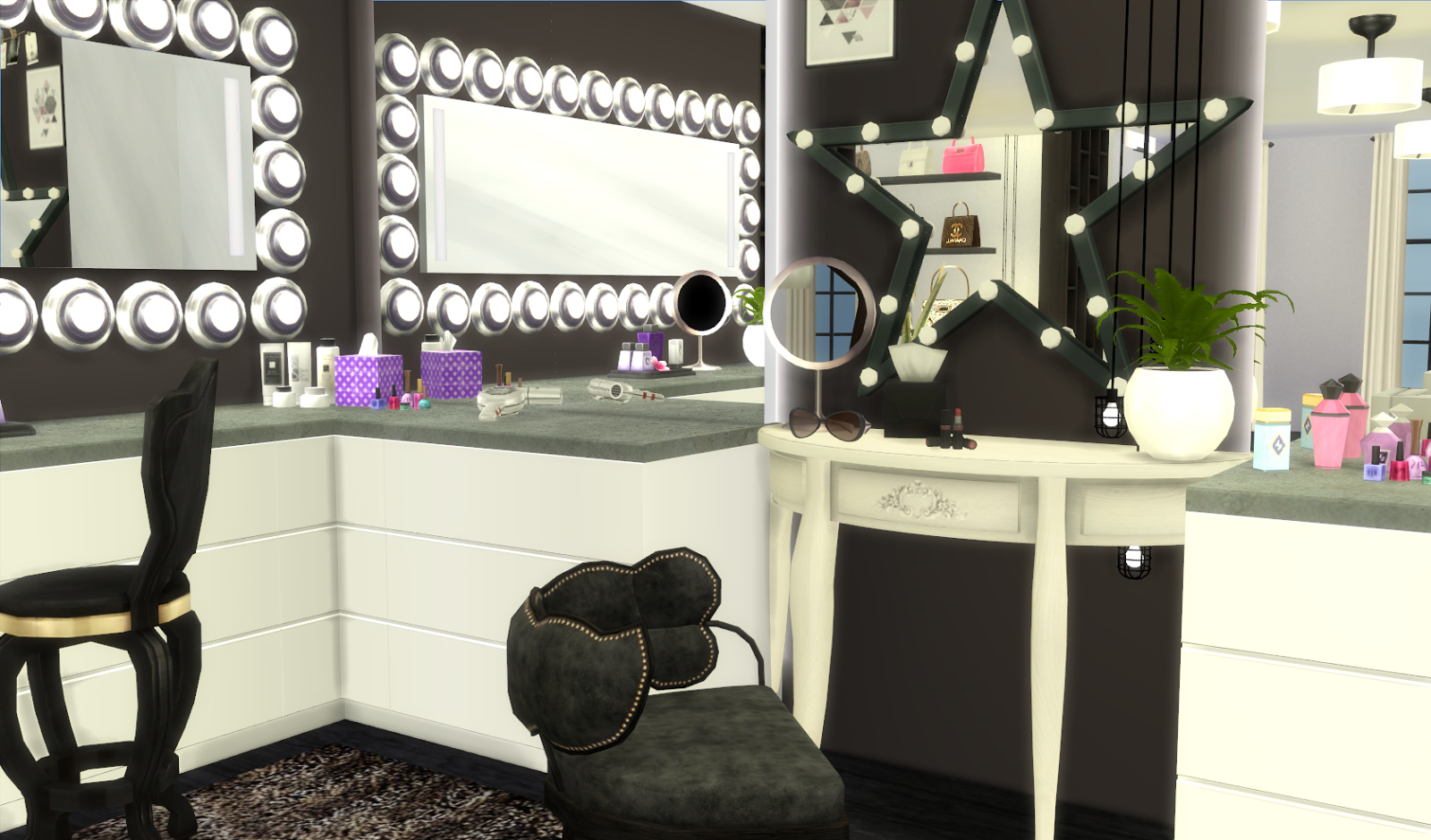 Custom Content Glam Room. CC List Glam Room