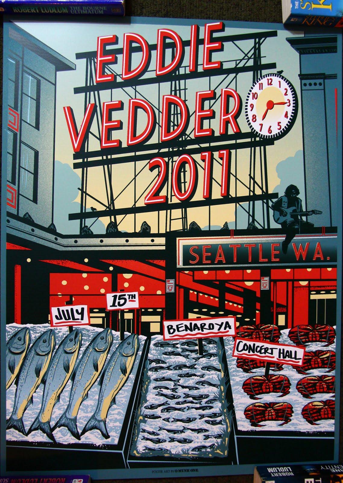 Inside The Rock Poster Frame Blog Munk One Eddie Vedder