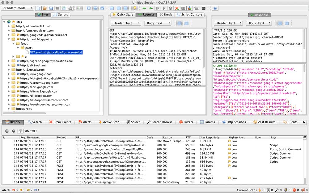 Inspecting Http Traffic Using Owasp Zed Attack Proxy Tool Havrl