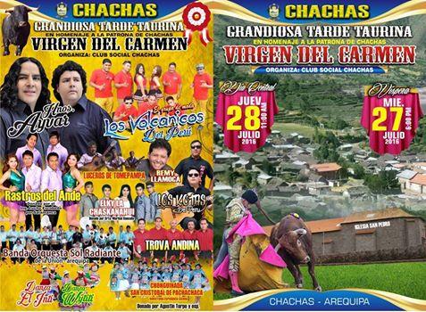 !!CLUB CHACHAS TE INVITA AL HOMENAJE A LA VIRGEN DEL CARMEN ESTE 27 Y 28 JULIO 2016!!