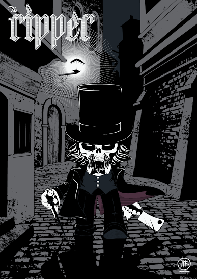 "Designer Con 2014 Exclusive ""The Ripper"" Screen Print by Jon Paul Kaiser"