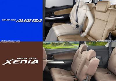 Headrest Tambahan dan Seatbelt Tambahan di Baris Dua