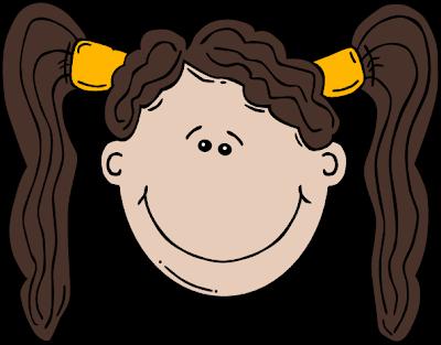 Desenho de menina colorido