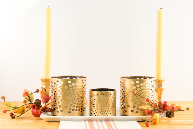 Gild a fall centerpiece